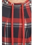 Sznurek  -  dámské šaty červenomodrá kostka