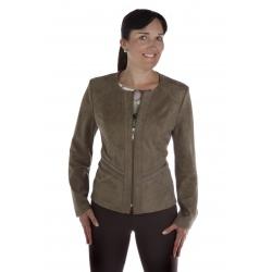 ST452 - dámský semišový kabátek zelený
