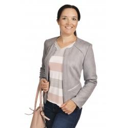 ST452 - dámský semišový kabátek světle šedý