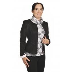 ST452 - dámský semišový kabátek černý