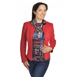 ST452 - dámský semišový kabátek červený