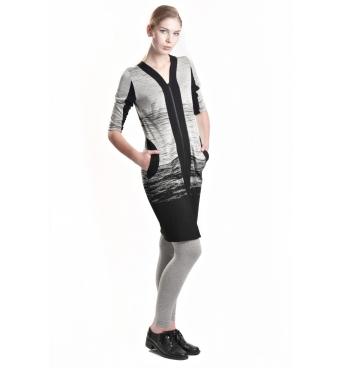 D3521 - Dámské propínací šaty