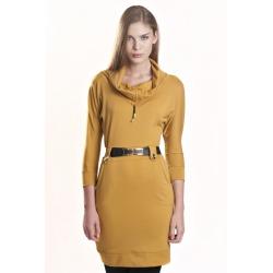 K3224 - Dámské šaty GOLF  žluté