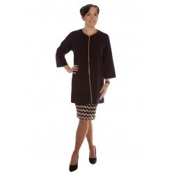 Montiano - dámský černý společenský kabát