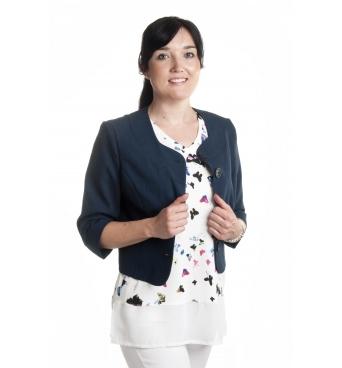 BE001 - chanel - dámský lněný kabátek