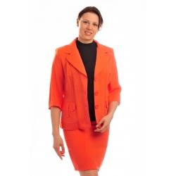 BE003 - Safari -  dámské lněné sako oranžové