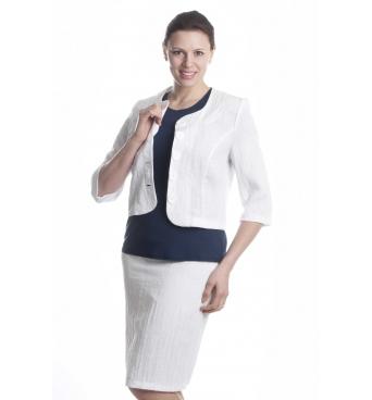 Chanel - dámský letní lněný kostým