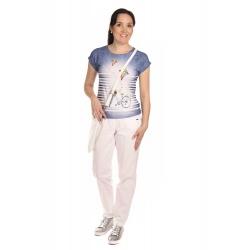 K124T  - dámské tričko kolo džínové