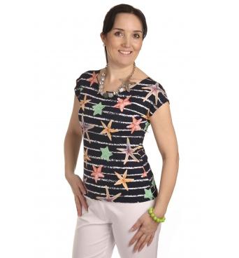 K105T - dámské tričko mořské hvězdice