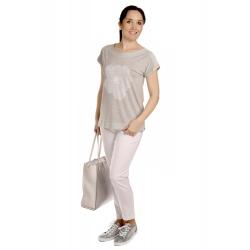 W563 - dámské tričko stříbrný květ