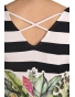 K020-133K  - dámské tričko barevné listí s překřížením