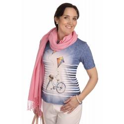 K020-124  - dámské tričko kolo džínové