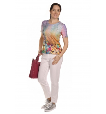 K020-144 - dámské tričko květinová louka