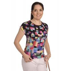 K020-139T - dámské tričko barevné kostky