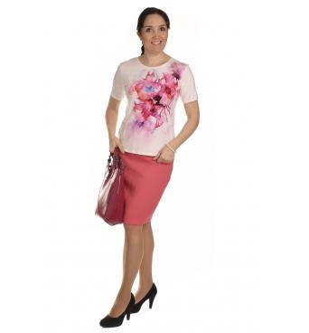 K020-145 - dámské tričko růžový pugét