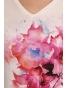 K020-145S - dámské tričko růžový pugét