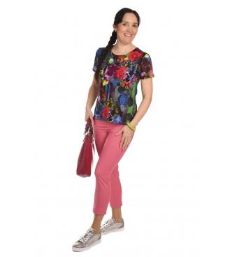 K020-103 - dámské tričko barevné květy