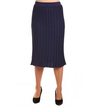 M9857 - dámská sukně plisé modrá