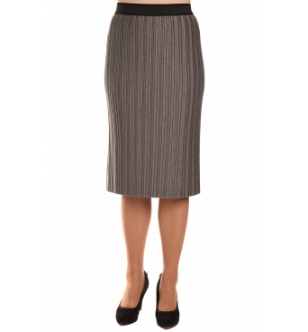 M9841 - dámská sukně plisé šedá