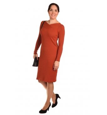 DAM437 - dámské okrové šaty
