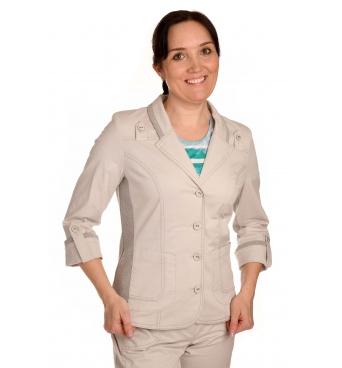 AST1062 - dámské šedé bavlněné sako