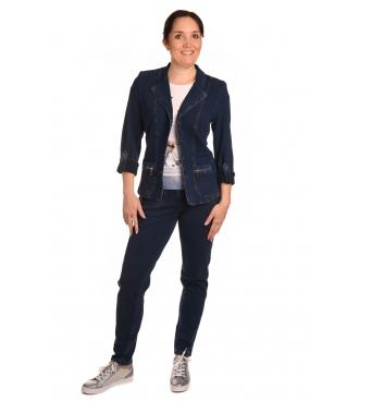 AST1063J+2032J - dámský džínový kostým