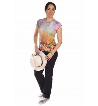 K020-144 T- dámské tričko květinová louka