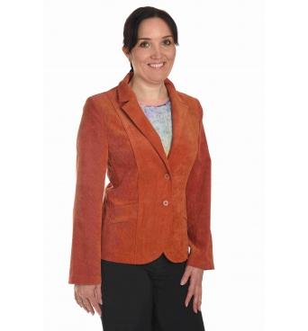 ST120 - dámské manšestrové sako pomerančové