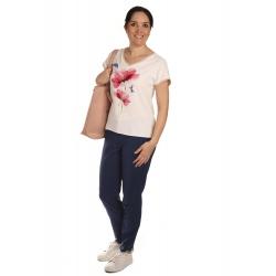 W562 - dámské tričko kolibřík červené