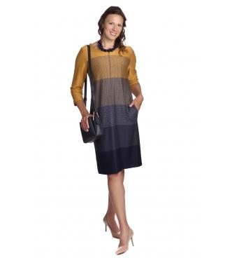 Il Tutto - šaty žlutomodré pruhy