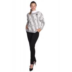Ala - dámský šedobílý svetr