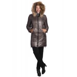 Aya - dámská zimní bunda s pravým kožíškem