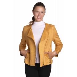 Remoneska - dámský semišový křivák žlutý