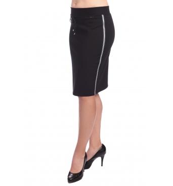 Carla - dámská černá sukně s lampasy