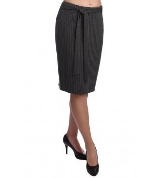AC404-310 - dámská antracitová sukně s proužky