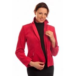 ST379 - dámské manšestrové sako červené