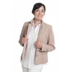 ST379 - dámské manšestrové sako světlý béž