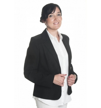 ST379 - dámské manšestrové sako černé