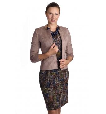 ST452 - dámský semišový kabátek béžový