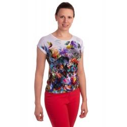 K021-104T - dámské tričko barevný vzor