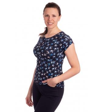 K020-102T - dámské tričko vlaštovky