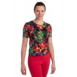 K021-111 - dámské tričko barevná džungle