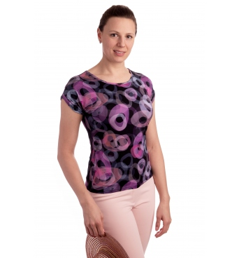 K021-320T - dámské tričko fialové kroužky
