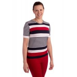 K021-102 - dámské tričko barevné proužky