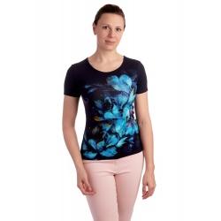 K021-313 - dámské tričko modré květy