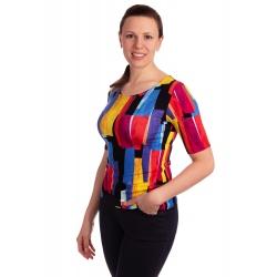 K021-326 - dámské tričko barevné obdélníky