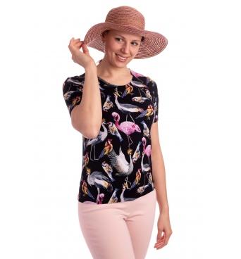 K021-324 - dámské tričko ptáčci