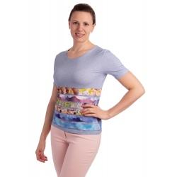 K021-318 - dámské tričko modrý akvarel