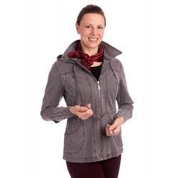 Lafei-Nier - dámská šedá džínová bunda