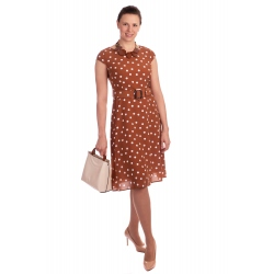 IWA - dámské šaty Pretty woman hnědé